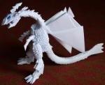 елать модульное оригами. дракон оригами из треугольников.